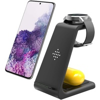 BOOC 3-in-1 Premium Qi-Certified Wireless Fast Charging Stand for Various Galaxy Phones, Buds and Watches