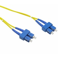 LinkBasic Single Mode OS1 LSZH Duplex SC-SC Fibre Optic Patch Cord 5 Metre
