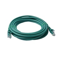 Cat 6a UTP Ethernet Cable, Snagless  - 7m Green