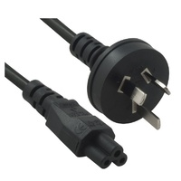 Power Cable from 3-Pin AU Male to IEC C5 Female plug in 2m